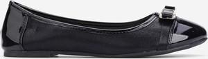 Czarne baleriny Yourshoes z płaską podeszwą w stylu casual ze skóry ekologicznej
