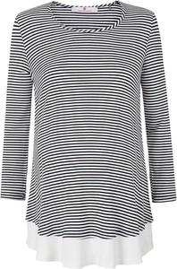 bellybutton Koszulka ciążowa w kolorze czarno-białym