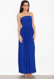 Niebieska sukienka Katrus gorsetowa