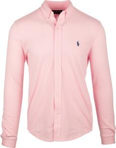Różowa koszula Ralph Lauren z długim rękawem