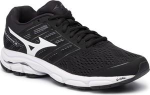 Czarne buty sportowe Mizuno sznurowane z płaską podeszwą