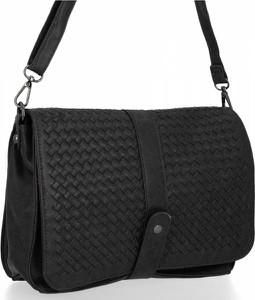 Czarna torebka Bee Bag na ramię w stylu glamour