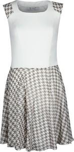 Sukienka Fokus mini z szyfonu rozkloszowana