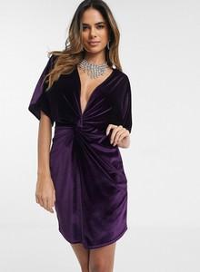 Fioletowa sukienka Missguided mini dopasowana