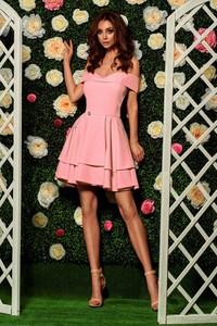 Różowa sukienka Lemoniade mini z okrągłym dekoltem