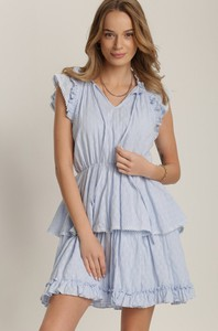 Niebieska sukienka Renee z krótkim rękawem