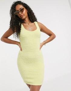 Żółta sukienka Asos mini