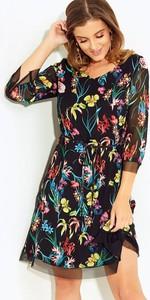 Sukienka Kaskada z długim rękawem