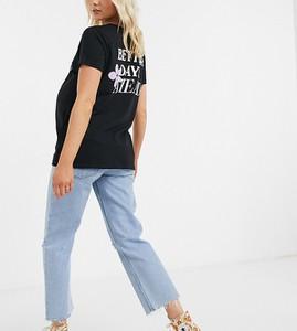 Czarny t-shirt Asos z krótkim rękawem