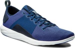 Niebieskie buty sportowe reebok ze skóry ekologicznej