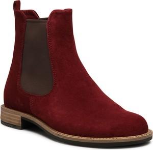 Czerwone botki Ecco w stylu casual