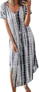 Sukienka Cikelly w stylu casual maxi z krótkim rękawem