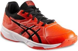 Pomarańczowe buty sportowe ASICS w sportowym stylu sznurowane