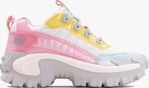 Buty sportowe Caterpillar ze skóry sznurowane z płaską podeszwą