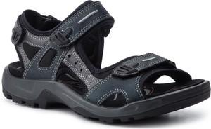 Buty letnie męskie Ecco w stylu casual z nubuku na rzepy