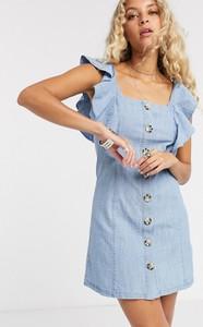 Sukienka Topshop z jeansu mini