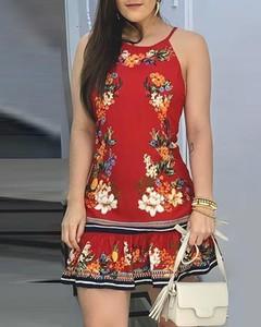 Sukienka Kendallme z okrągłym dekoltem mini z odkrytymi ramionami