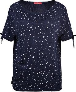 Niebieski t-shirt S.Oliver z okrągłym dekoltem