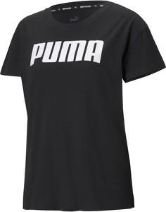 T-shirt Puma z okrągłym dekoltem z bawełny z krótkim rękawem