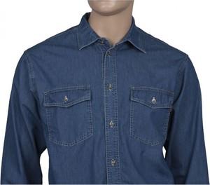 Koszula Stanley z klasycznym kołnierzykiem z jeansu w stylu casual