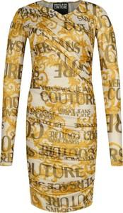 Sukienka Versace Jeans w stylu casual z dekoltem w kształcie litery v