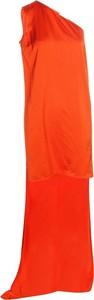 Pomarańczowa sukienka Stella Mccartney Vintage bez rękawów