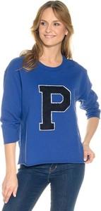 Niebieska bluza Pepe Jeans w sportowym stylu krótka