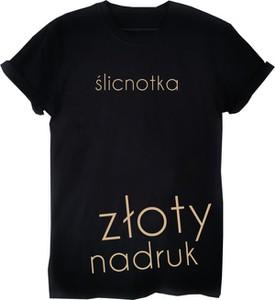 T-shirt Time For Fashion w młodzieżowym stylu z bawełny z okrągłym dekoltem