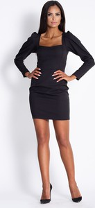 Czarna sukienka Dursi z długim rękawem
