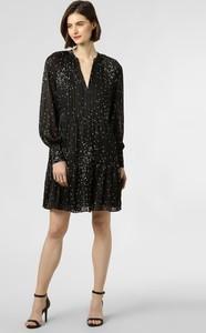 Czarna sukienka Y.A.S oversize mini z dekoltem w kształcie litery v