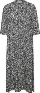 Niebieska sukienka Denim Hunter z długim rękawem