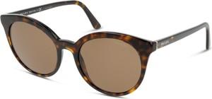 Brązowe okulary damskie Prada