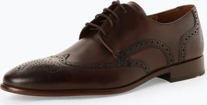 Brązowe buty Lloyd w stylu klasycznym sznurowane