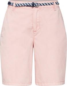 Różowe szorty Esprit z bawełny w stylu klasycznym