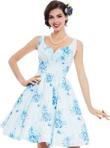 Niebieska sukienka Yaze z bawełny midi