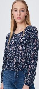 Niebieska bluzka Sinsay z szyfonu