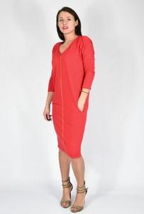d33b725ede Sukienka Collibri z długim rękawem z dekoltem w kształcie litery v oversize