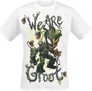 T-shirt Emp z nadrukiem z krótkim rękawem z bawełny