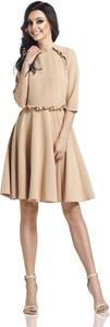 Sukienka Lemoniade rozkloszowana midi z długim rękawem