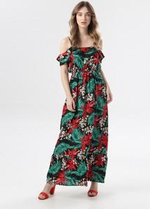 Sukienka born2be z odkrytymi ramionami maxi w stylu boho