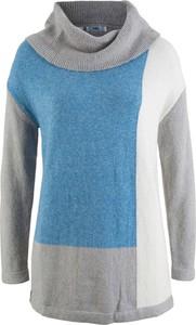 Sweter bonprix bpc bonprix collection w geometryczne wzory