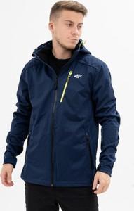 Niebieska kurtka 4F w stylu casual