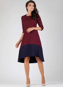 Sukienka Nommo midi asymetryczna