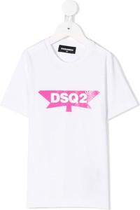 Koszulka dziecięca Dsquared2 Kids dla dziewczynek z bawełny