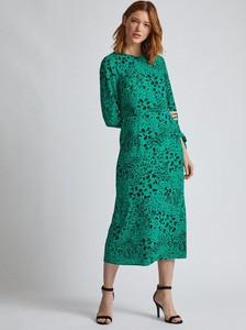 Zielona sukienka Dorothy Perkins maxi z długim rękawem