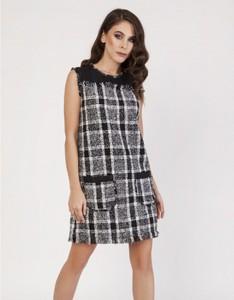 Sukienka Milena Płatek mini bez rękawów w stylu casual