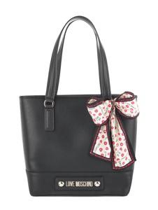 Czarna torebka Love Moschino na ramię ze skóry ekologicznej matowa