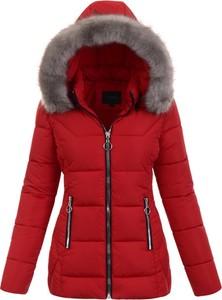 Czerwona kurtka fasoni.pl w stylu casual