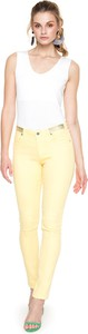 Żółte jeansy L'AF z jeansu