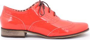 Zapato jazzówki - skóra naturalna - model 246 - kolor koral